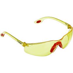 Желтые очки защитные открытого типа ЗУБР Спектр 3, двухкомпонентные дужки / 110316